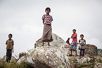 Kids from a village on the southern slope of the Haghier mountains. The children of Socotra hold the future of the unique land in their hands.