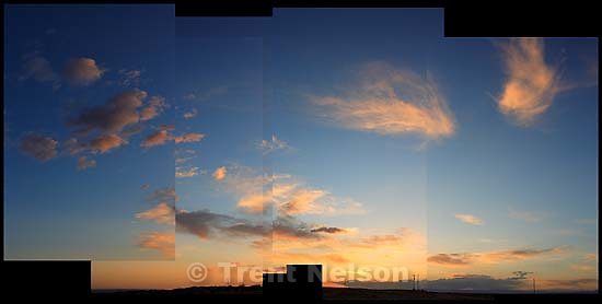 sunset. clouds over navajo nation<br />