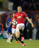 Ethan Hamilton of Manchester United during the U23 Premier League 2 match between Chelsea and Manchester United at the EBB Stadium, Aldershot, England on 18 September 2017. Photo by Andy Rowland.