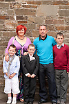 Ben Snaith with Mam Chanel Dad Trevor and brothers Jack and Finn<br /> Picture: Sinead O'Neill / www.newsfile.ie