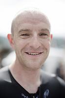 Ian Stannard's (GBR/Sky) sweaty post-race face<br /> <br /> Stage 18 (ITT) - Sallanches › Megève (17km)<br /> 103rd Tour de France 2016