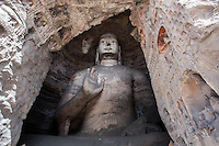 Large Buddha statue at the Yungang Grottoes, Datong, China