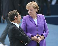 L'Aquila: Nicolas Sarkozy ed Angela Merkel al G8