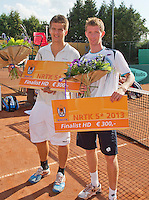 2013-08-17, Netherlands, Raalte,  TV Ramele, Tennis, NRTK 2013, National Ranking Tennis Champ,  Runners up doubles: Janick Lupescu &reg; and Sander Arends<br /> <br /> Photo: Henk Koster