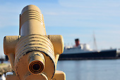 Stock Photo of Telescope and Ship