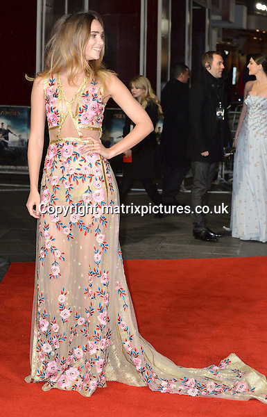 NON EXCLUSIVE PICTURE: MATRIXPICTURES.CO.UK<br /> PLEASE CREDIT ALL USES<br /> <br /> WORLD RIGHTS<br /> <br /> English model and actress Suki Waterhouse attending the Pride And Prejudice And Zombies European Film Premiere, at Vue West End cinema in London.<br /> <br /> FEBRUARY 1st 2016<br /> <br /> REF: JWN 16273