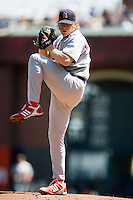 12 April 2008: #37 Todd Wellemeyer of the Cardinals pitches during the St. Louis Cardinals 8-7 victory over the San Francisco Giants at the AT&T Park in San Francisco, CA.