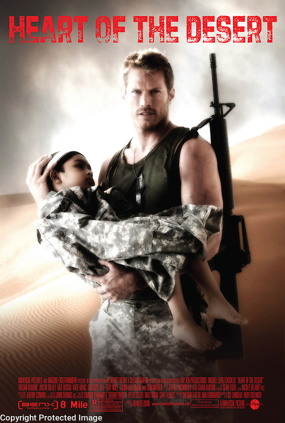 "A big plot point is this movie ""Heart of the Desert""…. and as always, the poster has to be absolutely believable, and not a fake looking throwaway effort."
