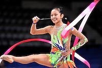 September 05, 2015 - Stuttgart, Germany - LAURA ZENG of USA performs in training before AA qualifications at 2015 World Championships.