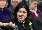 © Joel Goodman - 07973 332324 - all rights reserved . 06/03/2011 . Cardiff , UK . Baroness Sayeeda Warsi . Day 2 of the Conservative Party Spring Conference at the Swalec Stadium . Photo credit : Joel Goodman