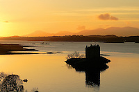 Castle Stalker and Loch Linnhe at sunset, Appin, Argyll &amp; Bute<br /> <br /> Copyright www.scottishhorizons.co.uk/Keith Fergus 2011 All Rights Reserved
