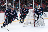 Joseph Masonius (UConn - 13), Johnny Austin (UConn - 6), Adam Huska (UConn - 30) - The University of Maine Black Bears defeated the University of Connecticut Huskies 4-0 at Fenway Park on Saturday, January 14, 2017, in Boston, Massachusetts.