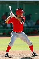 Kris Negron - Cincinnati Reds 2009 Instructional League. .Photo by:  Bill Mitchell/Four Seam Images..
