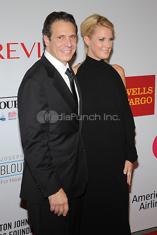 New York,NY- October 28: Andrew Cuomo, Sandra Lee attends the Elton John AIDS Foundation's 13th Annual An Enduring Vision Benefit at Cipriani Wall Street on October 28, 2014 in New York City In New York City on October 27, 2014 . Credit: John Palmer/MediaPunch