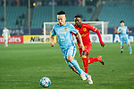 Jiangsu FC Midfielder Yang Xiaotian (L) in action during the AFC Champions League 2017 Group H match between Jiangsu FC (CHN) vs Adelaide United (AUS) at the Nanjing Olympics Sports Center on 01 March 2017 in Nanjing, China. Photo by Marcio Rodrigo Machado / Power Sport Images