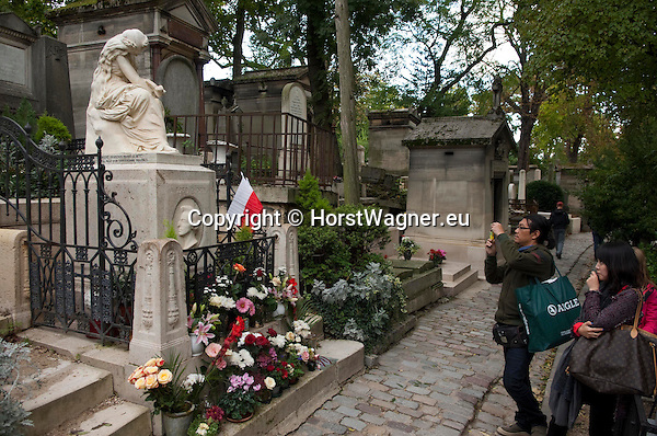 Paris - France, October 12, 2012 -- Cemetery Père Lachaise; here,  grave of Frédéric Chopin -- Photo: © HorstWagner.eu