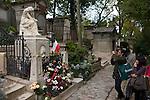 Paris - France, October 12, 2012 -- Cemetery Père Lachaise; here,  grave of Frédéric Chopin -- Photo: © HorstWagner.eu