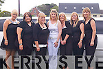 IN STYLE:.Margaret Boyle.of Ardfert travelled.by limo to.her hen party in.Killarney on.S a t u r d a y.evening. L/R.Jolene Linnane,.Fiona Flynn,.Paula White,.Margaret Boyle.(Bride to be),.Eileen Boyle,.Joanne Diggins.and Nora Diggins.