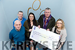 O'Connor's Bar & Guest House, Cloghane presented a  cheque for €1,320 money raised from the Annual Table Quiz. Picture John Togher, Pieta House, Kieran O'Brien, Pieta House, Stacey O Connor, Cloghane,  Micheal O'Dowd, Cloghane   Cora O'Brien, Pieta House manager,