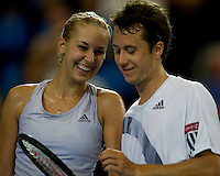 Sebine Lisicki (GER) and Philipp Kohlschreiber (GER) against Laura Robson (GBR) and Andy Murray (GBR) in the group B match between Great Britain and Germany. Robson & Murray beat Lisicki & Kohlschreiber 6-3 6-2...International Tennis - Hyundai Hopman Cup XXII - Wed  06 Jan 2010 - Burswood Dome - Perth - Australia ..© Frey, AMN Images, 1st Floor, Barry House, 20-22 Worple Road, London, SW19 4DH.Tel - +44 20 8947 0100