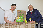 Gearoid McGill gives energy saving tips to Franz Popp at GM Energy Caherciveen on Thursday
