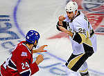 3 February 2009: Pittsburgh Penguins' right wing forward Eric Godard (28) gets into a first period fight with Montreal Canadiens defenseman Alex Henry (24) at the Bell Centre in Montreal, Quebec, Canada. The Canadiens defeated the Penguins 4-2. ***** Editorial Sales Only ***** Mandatory Photo Credit: Ed Wolfstein Photo