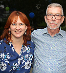 Patty Carroll and Sam Rudy during the Retirement Celebration for Sam Rudy at Rosie's Theater Kids on July 17, 2019 in New York City.