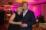 Zara Phillips and Mike Tindall at the gala dinner.<br /> The Celebrity Cup 2015<br /> Celtic Manor Resort<br /> <br /> 04.07.15<br /> &copy;Steve Pope - SPORTINGWALES
