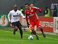 Karim Onisiwo (1. FSV Mainz 05) gegen Jetro Willems (Eintracht Frankfurt) - 07.02.2018: Eintracht Frankfurt vs. 1. FSV Mainz 05, DFB-Pokal Viertelfinale, Commerzbank Arena