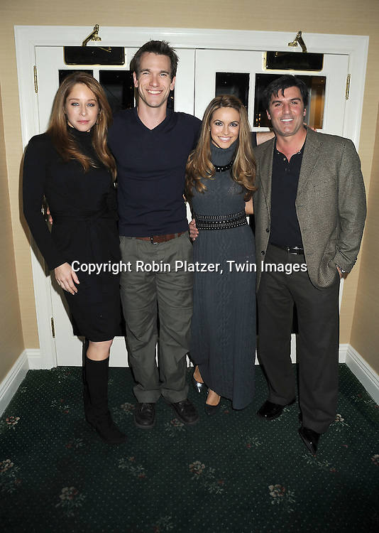 All My Children group shot, Jamie Luner, Adam Mayfield, Chrishell Stause and Vincent Irizarry