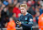 Dejection for Kevin De Bruyne at the end of the game - Football - Barclays Premier League - Stoke City vs Manchester City - Britannia Stadium Stoke - December 5th 2015 - Season 2015/2016 - Photo Malcolm Couzens/Sportimage