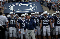 09 October 2004:  Joe Paterno leads his Nittany Lions onto the field...Purdue defeated Penn State 20-13  October 9, 2004 at Beaver Stadium in State College, PA....