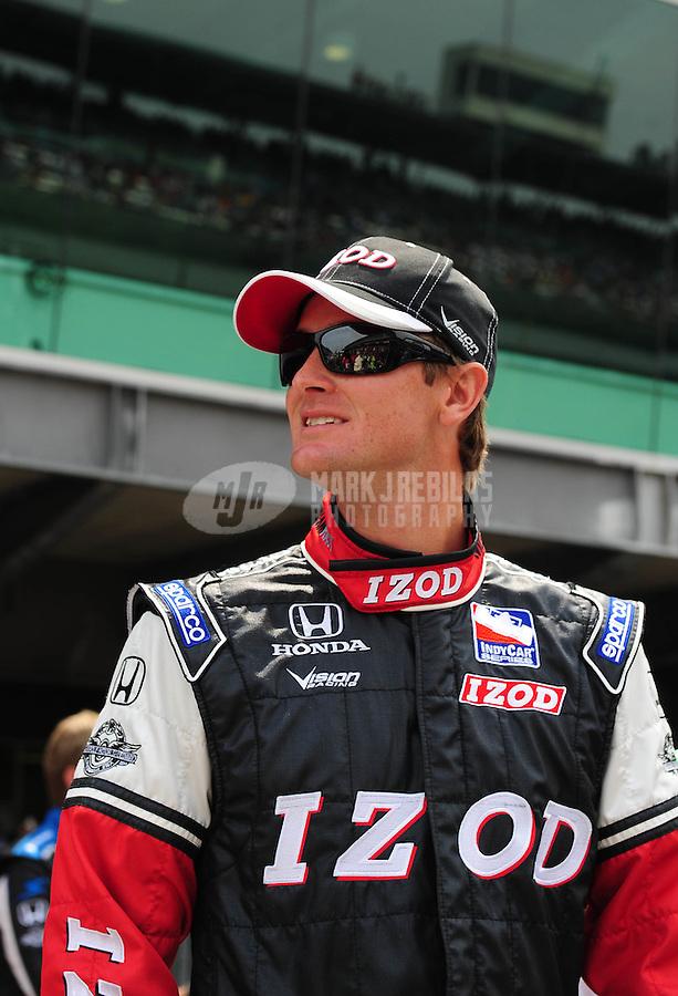 May 24, 2009; Indianapolis, IN, USA; IRL driver Ryan Hunter-Reay during the 93rd running of the Indianapolis 500 at Indianapolis Motor Speedway.  Mandatory Credit: Mark J. Rebilas-