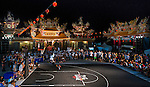 Sheldon Bailey of USA performs in the international slam-dunk contest at TinHau Temple ahead of the Red Bull King of the Rock World Finals, Taitung City, Taiwan, on September 5th 2014.