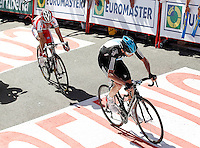 Christopher Froome (r) and Daniel Moreno during the stage of La Vuelta 2012 between Vilagarcia de Arousa and Mirador de Erazo (Dumbria).August 30,2012. (ALTERPHOTOS/Acero) /NortePhoto.com<br />