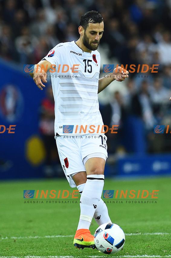 Mergim Mavraj Albania<br /> Marseille 15-06-2016 Stade du Velodrome <br /> Football Euro2016 France-Albanie/Francia-Albania Group Stage Group A<br /> Foto Massimo Insabato / Insidefoto