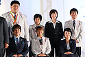 (Top L-R)  <br /> Kento Masaki, <br /> Shizuka Hangai, <br /> Mamiko Toyoda, <br /> Keiichi Sato, <br /> (Bottom L-R) <br /> Shinji Negi, <br /> Monika Seryu, <br /> Aki Taguchi, <br /> SEPTEMBER 21, 2016 : <br /> Olympic and Paralympic flags raising ceremony <br /> in Tokyo, Japan.  <br /> (Photo by Yohei Osada/AFLO SPORT)