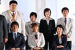 (Top L-R)  <br /> Kento Masaki, <br /> Shizuka Hangai, <br /> Mamiko Toyoda, <br /> Keiichi Sato, <br /> (Bottom L-R) <br /> Shinji Negi, <br /> Monika Seryu, <br /> Aki Taguchi, <br /> SEPTEMBER 21, 2016 : <br /> Olympic and Paralympic flags raising ceremony <br /> in Tokyo, Japan.  <br /> (Photo by Yohei Osada/AFLO SPORT)