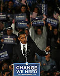 Presidential candidate Barack Obama, speaks during an election rally,  in Kissimmee,  Fla Wednesday Oct 29 2008.  Americans will go to the polls on Nov 4, at a time of great Financial crisis, war in Iraq and Afghanistan, to elect a  new President. A vote, that will affect not only America, but the whole world. Photo by Eyal Warshavsky .