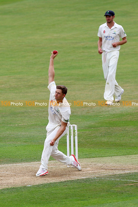 Craig Meschede in bowling action for Glamorgan - Essex CCC vs Glamorgan CCC - LV County Championship Cricket at the Essex County Ground, Chelmsford, Essex - 14/07/15 - MANDATORY CREDIT: Gavin Ellis/TGSPHOTO