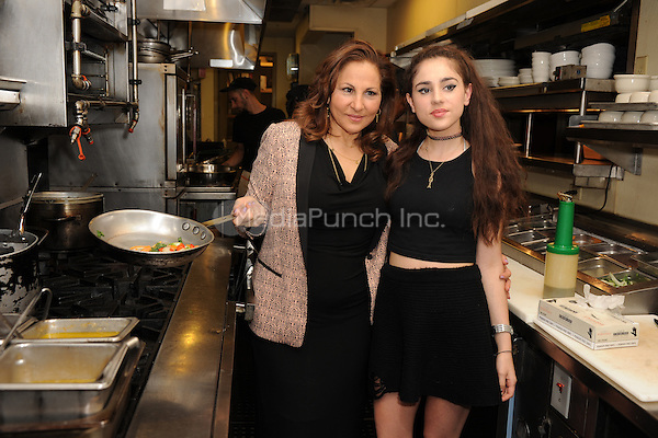 FORT LAUDERDALE FL - OCTOBER 12 : Samia Najimy Finnerty and Kathy Najimy attend a PETA event where Kathy Najimy Receives an Award for Animal Protection at Sublime Restaurant on October 12, 2014 in Fort Lauderdale, Florida. Credit: mpi04/MediaPunch