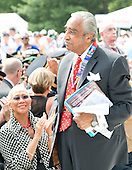 United States Representative Charlie Rangel (Democrat of New York) stands when he is recognized as part of a group of Korean War Veterans are recognized during U.S. President Barack Obama's remarks marking the 60th Anniversary of the Korean War Armistice at the Korean War Veterans Memorial in Washington, D.C. on Saturday, July 27, 2013.<br /> Credit: Ron Sachs / Pool via CNP
