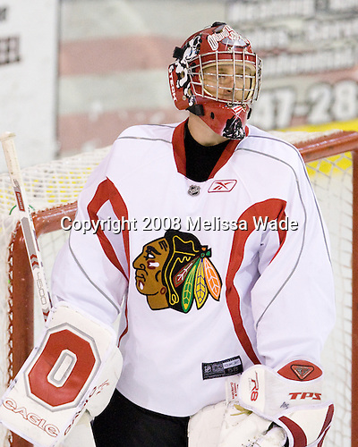 Joe Palmer - Prospects and free agents took part in the 2008 Chicago Blackhawks Prospects Camp at Edge Ice Arena in Bensenville, Illinois, on Friday, July 11, 2008.