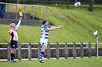 Saturday 27th April 2013 - Paul Jackson throws into the lineout during the final Ulster Bank League clash against Ballynahinch at Stevenson Park. Photo Credit : John Dickson / DICKSONDIGITAL