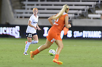 Houston, TX - Thursday Aug. 18, 2016: Victoria Huster during a regular season National Women's Soccer League (NWSL) match between the Houston Dash and the Washington Spirit at BBVA Compass Stadium.