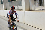 European Champion Victor Campenaerts (BEL) Lotto-Soudal recons the course before Stage 1 of the La Vuelta 2018, an individual time trial of 8km running around Malaga city centre, Spain. 25th August 2018.<br /> Picture: Eoin Clarke | Cyclefile<br /> <br /> <br /> All photos usage must carry mandatory copyright credit (© Cyclefile | Eoin Clarke)