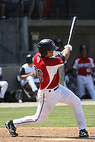 Devin Mesoraco #36 of the Carolina Mudcats at bat during a game against the West Tenn Diamond Jaxx on May 30, 2010 in Zebulon, NC.
