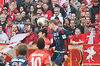 Kopfball Thomas Mueller (Bayern) - 1. FSV Mainz 05 vs. FC Bayern München, Coface Arena, 26. Spieltag