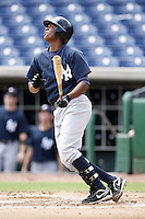 July 10, 2009:  Shortstop Jose Mojica (13) of the GCL Yankees during a game at Bright House Networks Field in Clearwater, FL.  The GCL Yankees are the Gulf Coast Rookie League affiliate of the New York Yankees.  Photo By Mike Janes/Four Seam Images