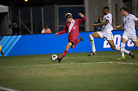 Santa Barbara, CA - Friday, December 7, 2018:  Maryland men's soccer defeated Indiana 2-0 in a semi-final match in the 2018 College Cup.  Justin Rennicks.